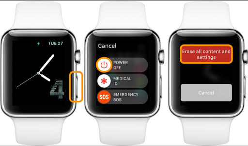 how to reset an apple watch without password or apple id